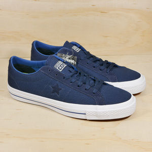 NEW Converse One Star Canvas Ox Blue White Shoes